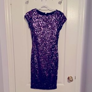 Le chateau purple sequins dress